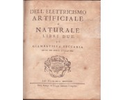 Dell'elettricismo artificiale e naturale libri due